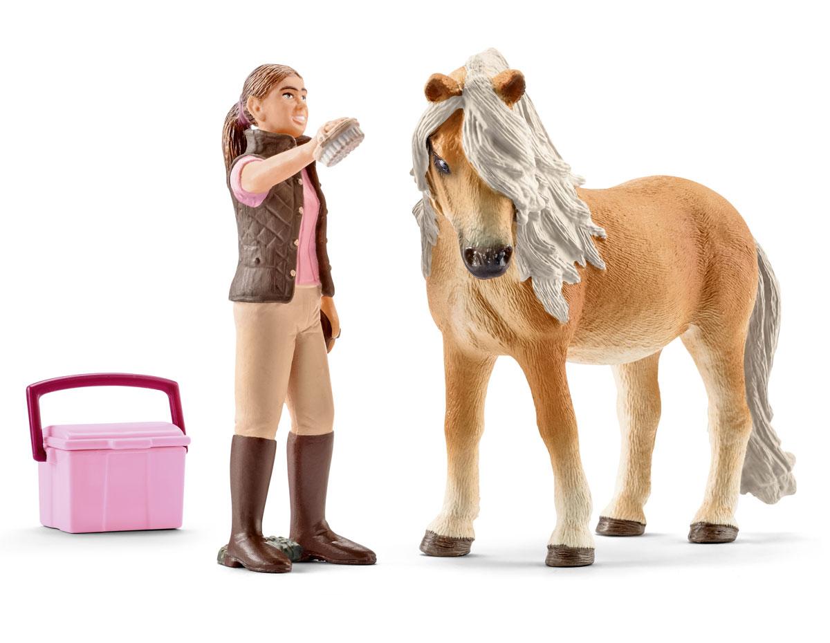 Schleich Набор фигурок Конюх и исландский пони schleich игровой набор пещера со львом