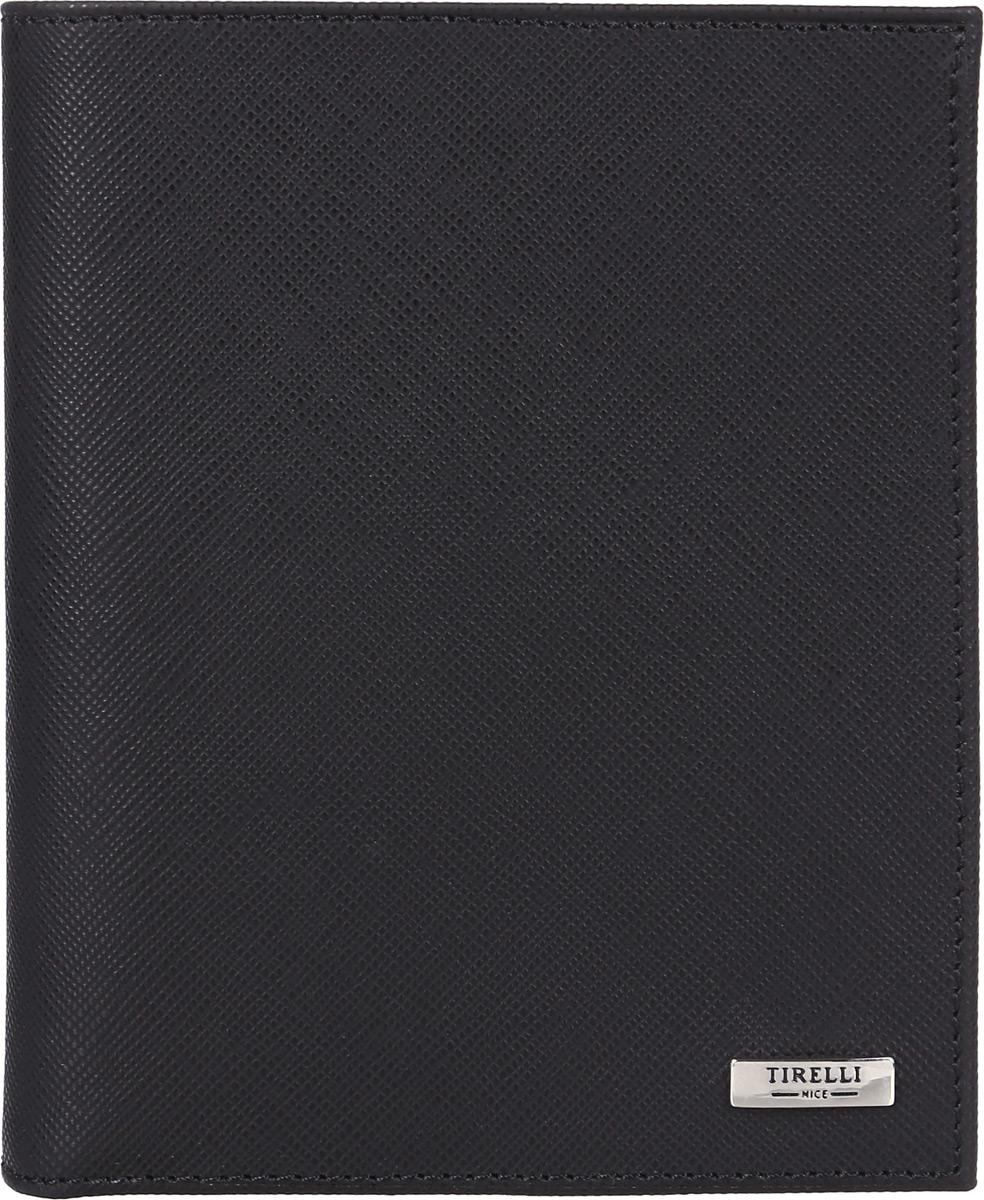 Портмоне мужское Tirelli, цвет: черный. 15-312-04INT-06501Вертикальное мужское портмоне Tirelli изготовлено из натуральной кожи.Портмоне оформлено фирменным логотипом. Внутри имеется 1 отделение для купюр, кармашек на кнопке для монет, 3 прорезных кармана для хранения пластиковых карт, визиток, дисконтных карт и т. п. и 3 потайных кармашка. Такое портмоне не только поможет сохранить внешний вид ваших документов и защитит их от повреждений, но и станет ярким аксессуаром, который подчеркнет ваш образ. Изделие упаковано в подарочную коробку синего цвета с логотипом фирмы Tirelli.