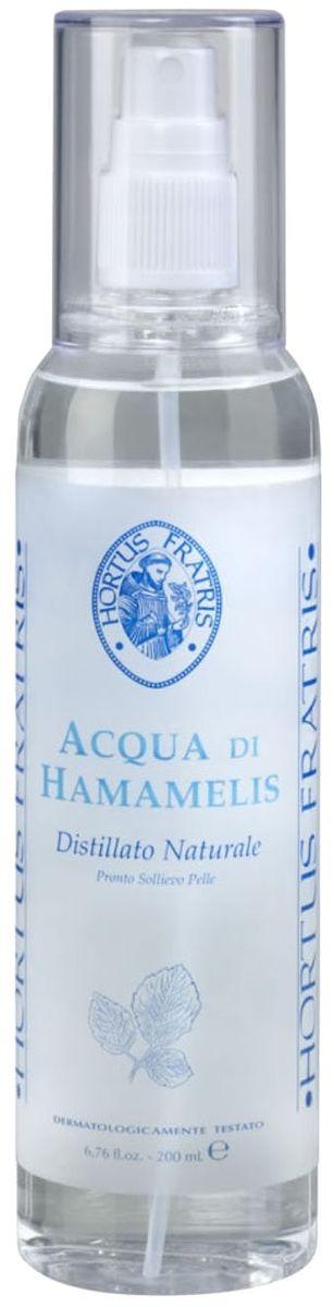 Hortus Fratris вода-спрей с экстрактом гамамелиса, 200 млFS-00897Средство быстрой помощи при любом раздражении кожи. Снимает отечность, покраснение, зуд при солнечных ожогах, укусах насекомых, успокаивает кожу после эпиляции или бритья. Предупреждает и уменьшает раздражение на коже, вызванное действием секрета потовых желез, поэтому является незаменимым средством после занятий спортом. Прекрасно освежает и тонизирует кожу.