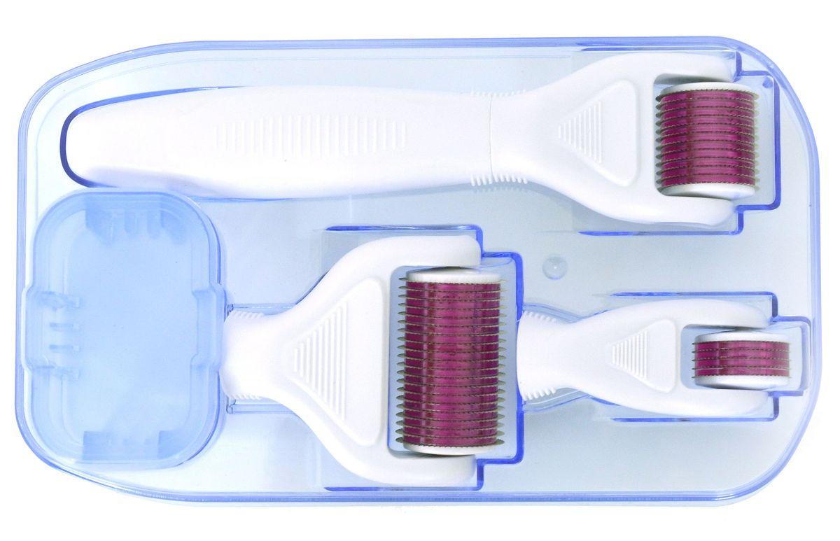 Welss мезороллер 4 в 1 MR50/MR100/MR150AP-FCB PBМезороллер 4 в 1 Welss MR50/MR100/MR150 представляет собой валик с тончайшими иглами из хирургической стали со сверх точной лазерной заточкой: 3 сменные головки мезороллера с различным количеством иголок 300 шт./720 шт./1200 шт. Система упакована в герметичный стерильный пакет. Имеет емкость для антисептика с фиксацией положения головки ролика. • 1200 игл для использования на теле – 1,5 мм• 720 игл для использования на лице – 1,0 мм• 300 игл для использования вокруг глаз – 0,5 мм