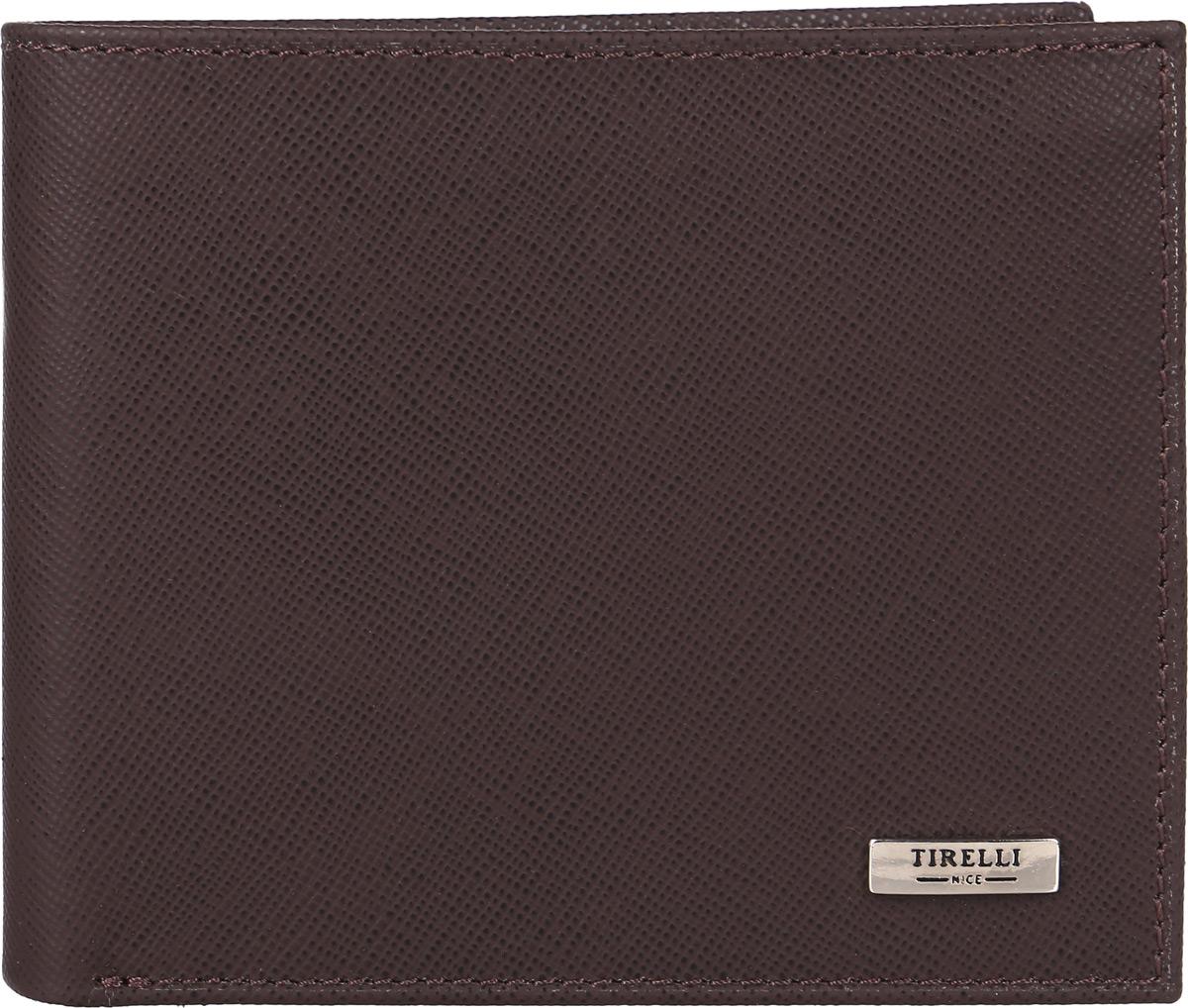 Портмоне мужское Tirelli, цвет: коричневый. 15-306-03495350нКомпактное мужское портмоне Tirelli изготовлено из натуральной кожи. Портмоне оформлено фирменным логотипом. Внутри имеется 2 отделения для купюр, 8 прорезных карманов для хранения пластиковых карт, визиток, дисконтных карт и т. п., 2 кармашка под сетчатой тканью и 2 потайных кармашка. Такое портмоне не только поможет сохранить внешний вид ваших документов и защитит их от повреждений, но и станет ярким аксессуаром, который подчеркнет ваш образ.