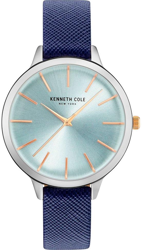 Наручные часы женские Kenneth Cole, цвет: синий. KC15056003BM8434-58AEНаручные часы Kenneth Cole, корпус и задняя крышка из стали