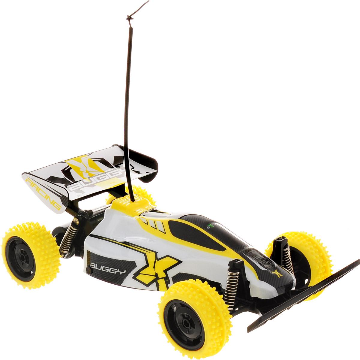 """Если ваш ребенок часами проводит время за игрой в машинки, внимательно их изучает и придумывает различные игровые сюжеты, то его обязательно порадует радиоуправляемый автомобиль от компании Silverlit """"Buggy Racing"""".У машины крупные колеса с ощутимым рисунком протектора и амортизаторы ходовых осей. Внедорожник может передвигаться как по полу с различным покрытием, так и по асфальту, песку или гравию. Играя с машиной, у вашего ребенка расширяется кругозор, развивается моторика рук и воображение. Также такие игры способствуют улучшению концентрации, внимательности и реакции малыша.Для работы машины необходимо купить 4 батарейки напряжением 1,5V типа АА (не входят в комплект). Для работы пульта управления необходимо купить 2 батарейки напряжением 1,5V типа АА (не входят в комплект)."""