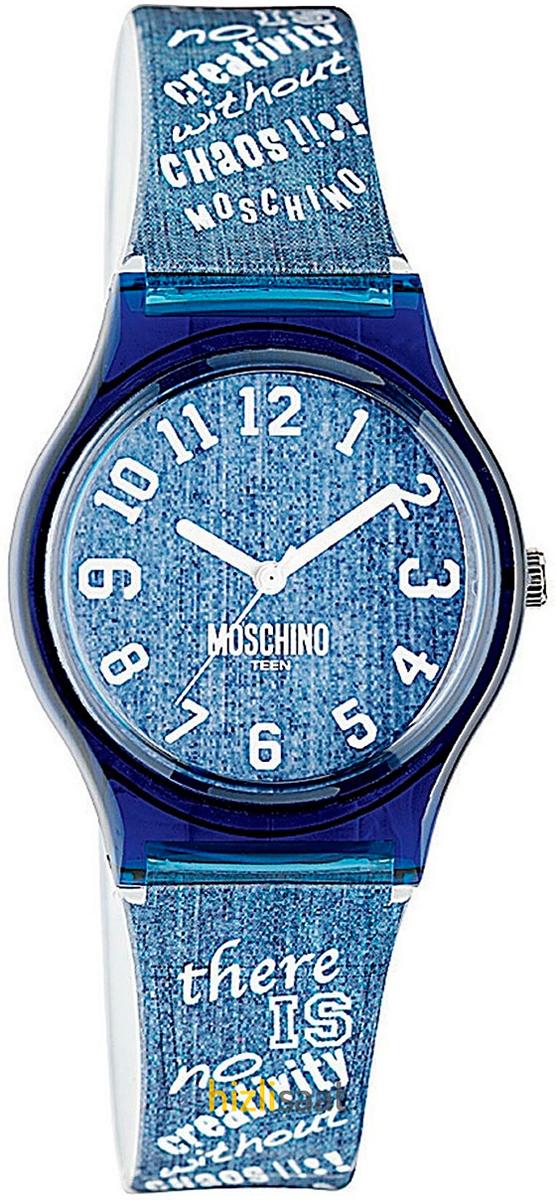 Наручные часы для девочки Moschino, цвет: синий. MW0311BM8434-58AEНаручные часы Moschino, кварцевые, корпус из пластика