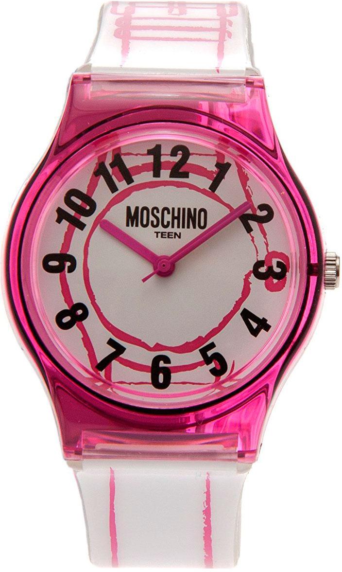 Zakazat.ru: Наручные часы для девочки Moschino, цвет: бело-розовый. MW0319