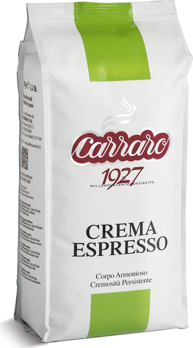 Carraro Crema Espresso кофе в зернах, 1 кг0120710Кофе Карраро Крема Эспрессо - натуральный жареный высший сорт, в зернах. Средняя обжарка. Арабика - 85%, Робуста - 15%.