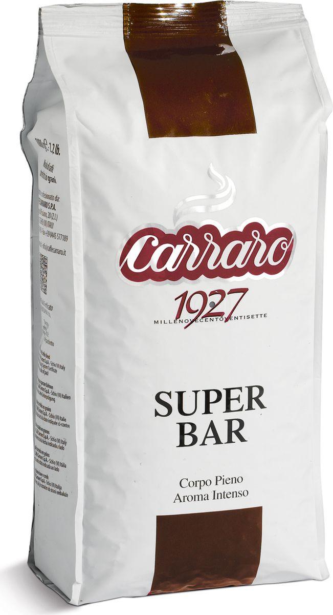 Carraro Super Bar кофе в зернах, 1 кг0120710Кофе Карраро Супер Бар - натуральный жареный высший сорт, в зернах. Средняя обжарка. Арабика - 85%, Робуста - 15%.