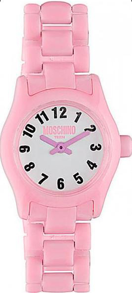 Наручные часы для девочки Moschino Teen, цвет: розовый. MW0325BP-001 BKНаручные часы Moschino, кварцевые, корпус из пластика