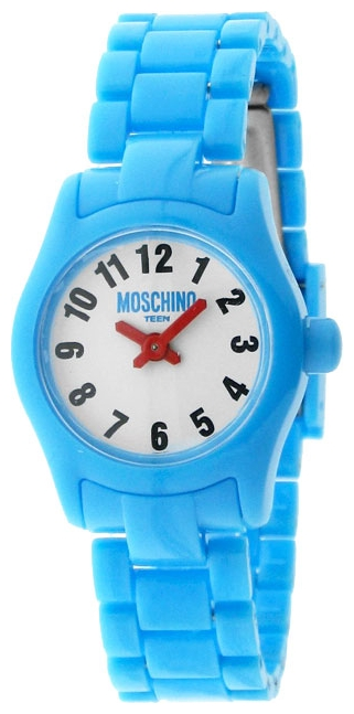 Наручные часы для девочки Moschino Teen, цвет: голубой. MW0326BM8241-01EEНаручные часы Moschino, кварцевые, корпус из пластика