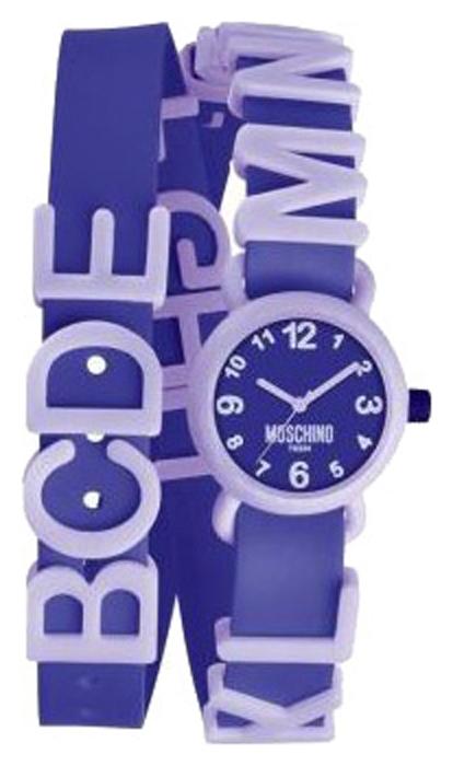 Наручные часы для девочки Moschino, цвет: фиолетовый. MW0328BM8434-58AEНаручные часы Moschino, кварцевые, корпус из пластика