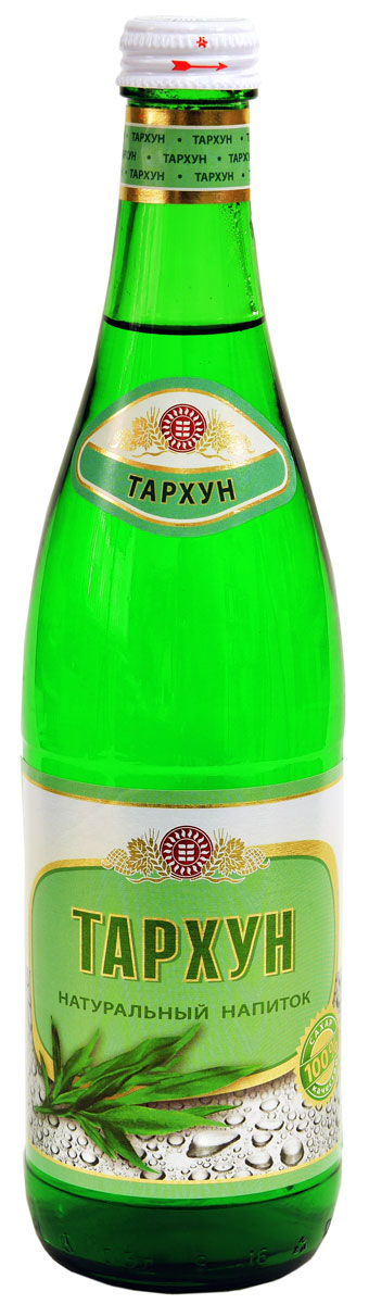 Нальчикский Тархун, 0,5 л0120710Натуральный напиток сильногазированный на основе артезианской воды из недр Кабардино-Балкарии производится на высококачественном сырье и обладает ярко выраженными прохладительными свойствами. Для приготовления натуральных напитков используются только натуральные и экологически чистые компоненты.Пищевая ценность: углеводы - 11,0 г.