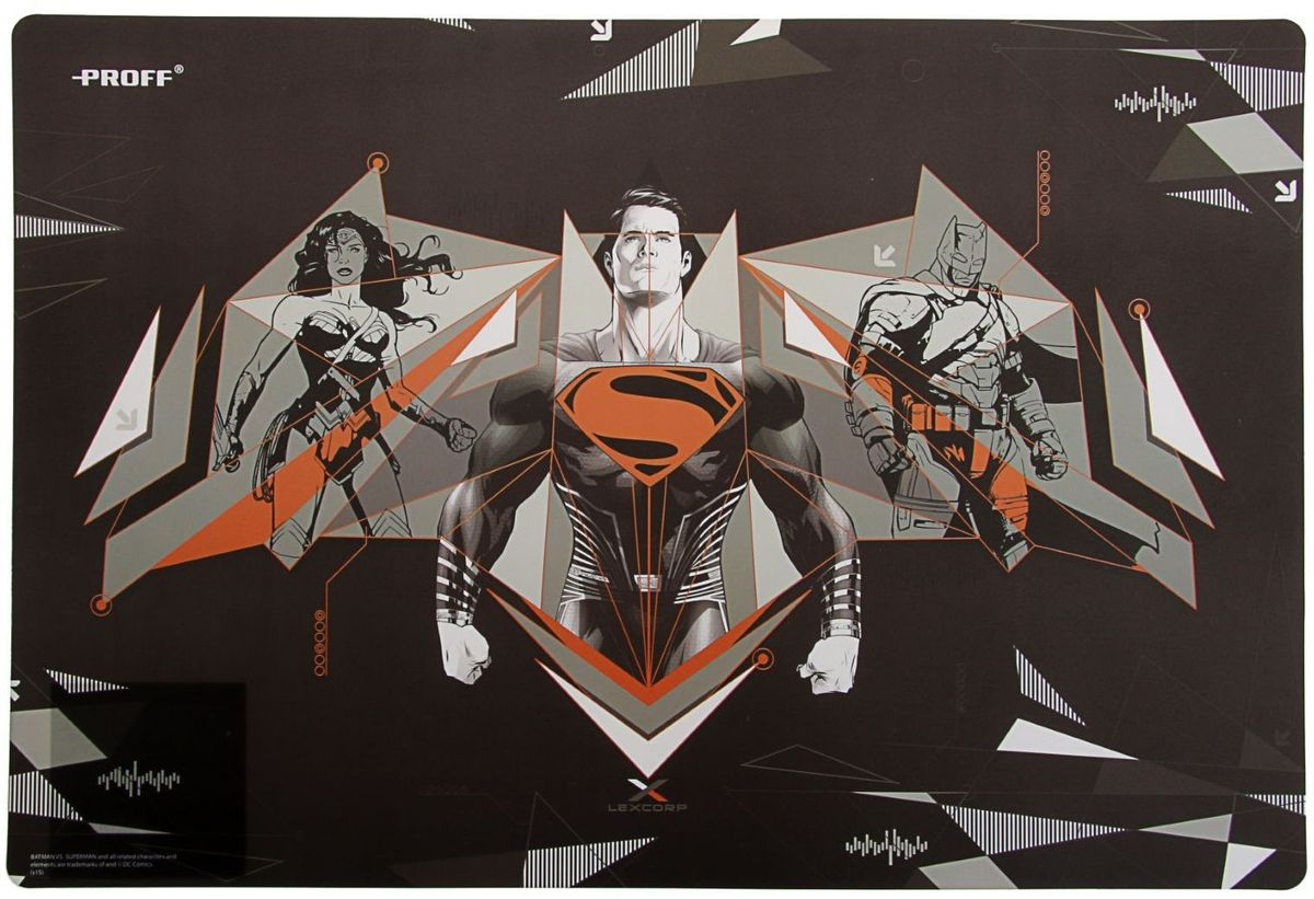 Proff Настольное покрытие Бэтмен против Супермена 43 х 29 см2187875