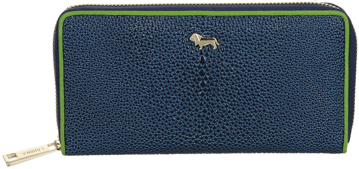Кошелек Labbra L048-0015 blue/greenW16-11135_914Женский кошелёк торговой марки LABBRA из натуральной кожи. Модель закрывается на металлическую молнию. В кошельке есть 4 не складывающихся отделения для крупных купюр. Отделение для мелочи - внутри, на металлической молнии, имеет 1 отделение. Есть 8 отделений для кредитных и дисконтных карт. плотная кожа с тиснением