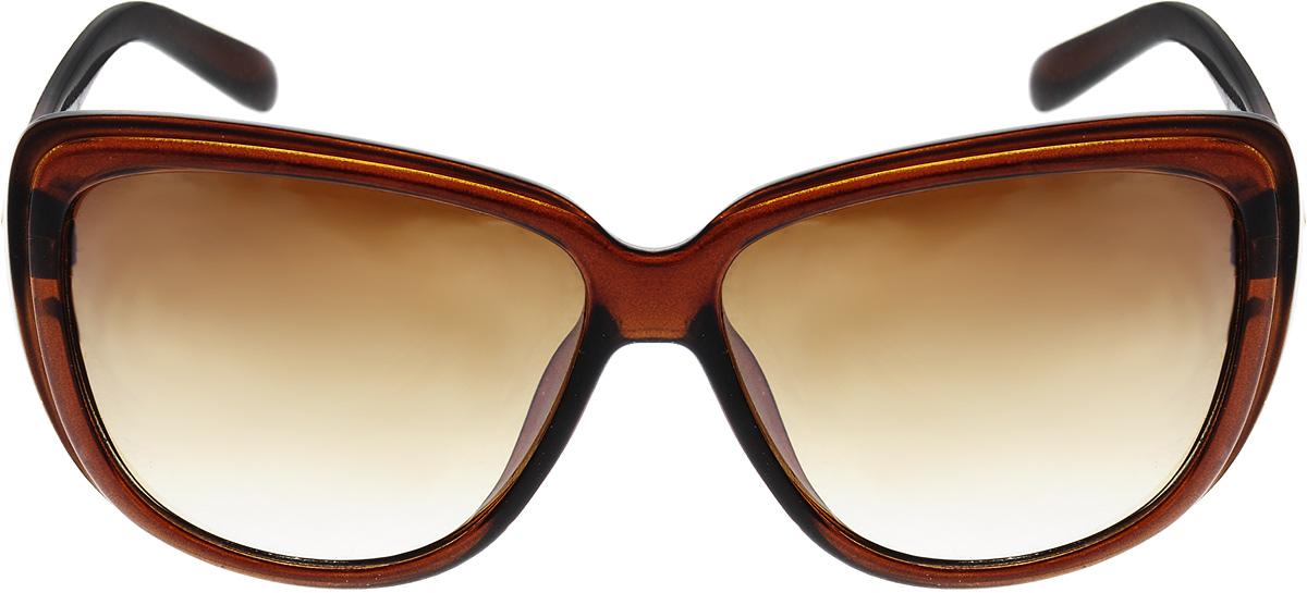Очки солнцезащитные женские Pirus, цвет: коричневый. PH6927BM8434-58AEСолнцезащитные женские очки Pirus, выполненные из высококачественного пластика и металла, подходят для активного образа жизни. Они не пропускают вредоносные солнечные лучи, повышают контрастность цветовосприятия и не искажают изображение.Они имеют стильный дизайн и легкую и комфортную оправу.Очки Pirus подчеркнут вашу индивидуальность и сделают ваш образ завершенным.