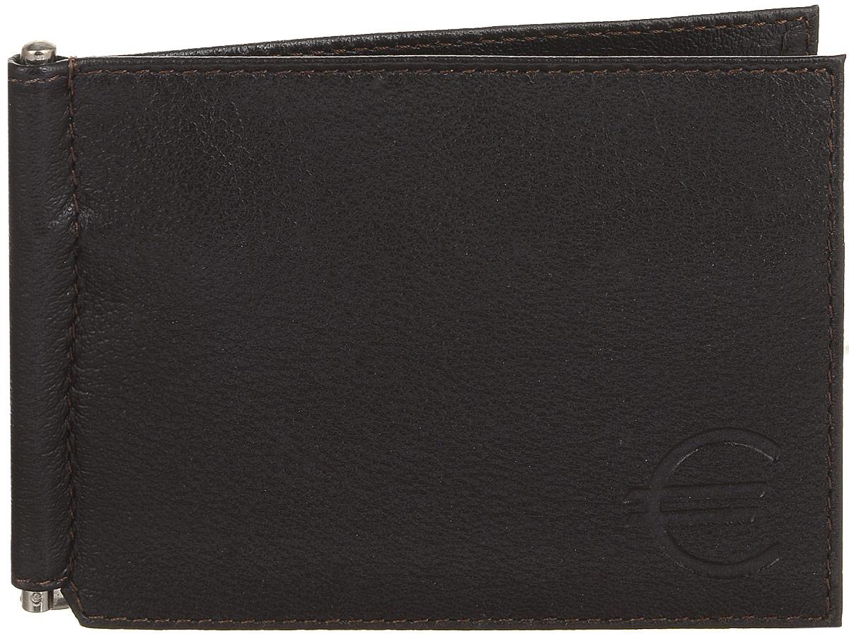 Зажим для купюр мужской Befler Грейд, цвет: темно-коричневый. Z.9.-977-080-06Зажим для купюр из коллекции «Грейд» выполнен из натуральной кожи. На внутреннем развороте: металлическая фурнитура для купюр на пружине, 3 кармана для кредитных карт, дополнительный глубокий карман . На внешней (оборотной) стороне карман для мелочи, закрывающийся на молнию.