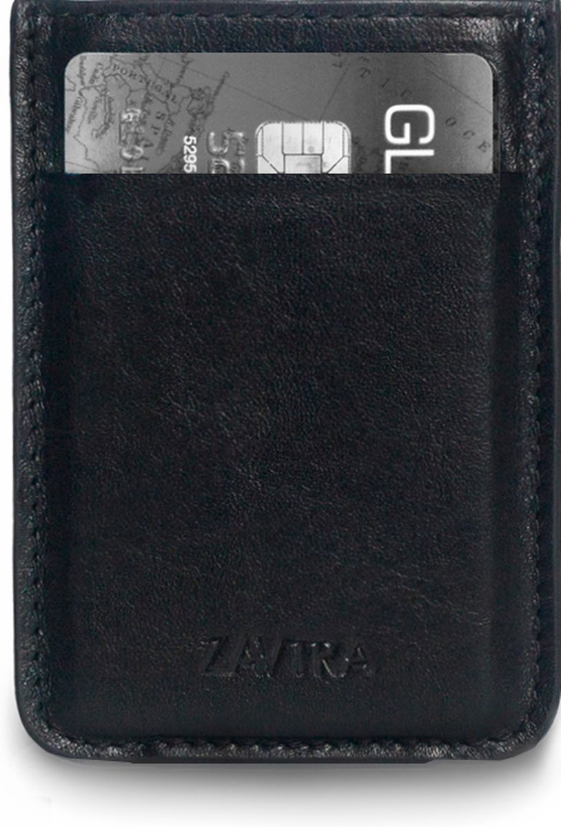 Кошелек Zavtra, цвет: черный. zav01bla490300нКомпактный кошелек ZAVTRA, выполненный из натуральной кожи, вмещает 4-5 банковских или визитных карт, права или пропуск и имеет фиксатор для купюр.