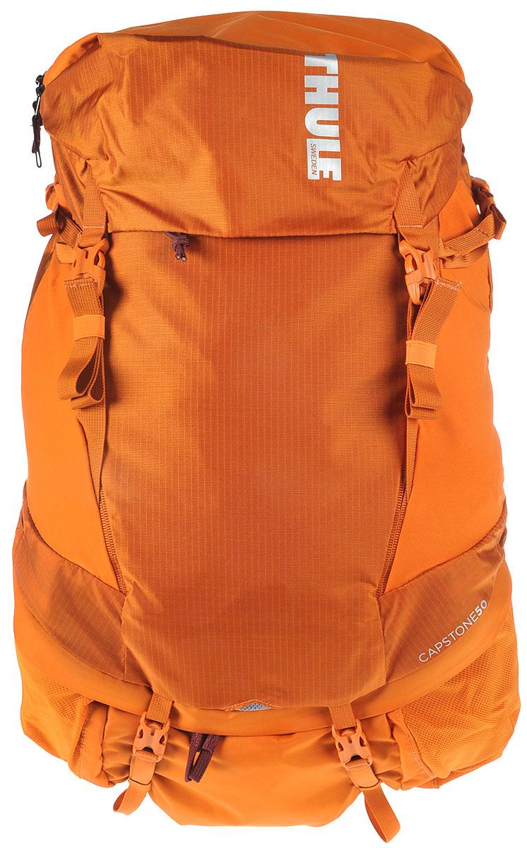 Рюкзак туристический мужской Thule Capstone, цвет: коричневый, 50 л223102Туристический мужской рюкзак Thule Capstone идеально подходит для однодневных путешествий или коротких походов. Рюкзак снабжен системой крепления MicroAdjust, которая обеспечивает максимальную регулировку для идеальной посадки, натягиваемой сеточной задней панелью для максимальной воздухопроницаемости и вшитой накидкой от дождя. Система крепления MicroAdjust позволяет отрегулировать ремень для торса на 10 см при надетом рюкзаке, чтобы добиться идеальной посадки. Сеточная задняя панель натягивается, обеспечивая превосходную воздухопроницаемость и позволяя вам не потеть и оставаться сухим в пути. Яркая съемная накидка от дождя обеспечивает сухость ваших принадлежностей во время ливней. Карманы с застежкой-молнией на крышке и набедренном ремне для хранения солнцезащитных очков и других мелких предметов. Доступ сверху, сбоку и снизу позволяет легко добраться до содержимого в дороге, а также загружать рюкзак и вынимать из него вещи. Эластичный карман Shove-it Pocket обеспечивает быстрый доступ к часто используемым предметам. Боковые стягивающие ремни позволяют закрепить груз на петлях или снаружи рюкзака. Крепления для трекинговых палок и ледоруба с эластичными стропами можно убрать, если они не используются. Конструкция, предназначенная для хранения воды, включает карман для емкости с водой, отверстие для трубки и два боковых кармана для бутылок с водой.