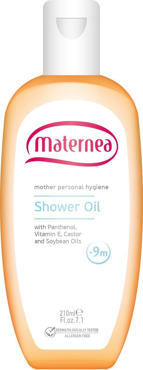 Maternea Масло для душа 210 мл910468Содержит специальные тщательно подобранные ингредиенты, которые нежно очищают и одновременно питают кожу. Успокаивает чувствительную кожу и повышает ее эластичность, делая кожу мягкой и гладкой. Благодаря формуле без мыла, красителей и консервантов продукт подходит для людей с чувствительной кожей.