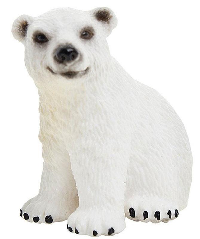 Schleich Фигурка Белый медведь детеныш фигурки игрушки schleich панда детеныш играет