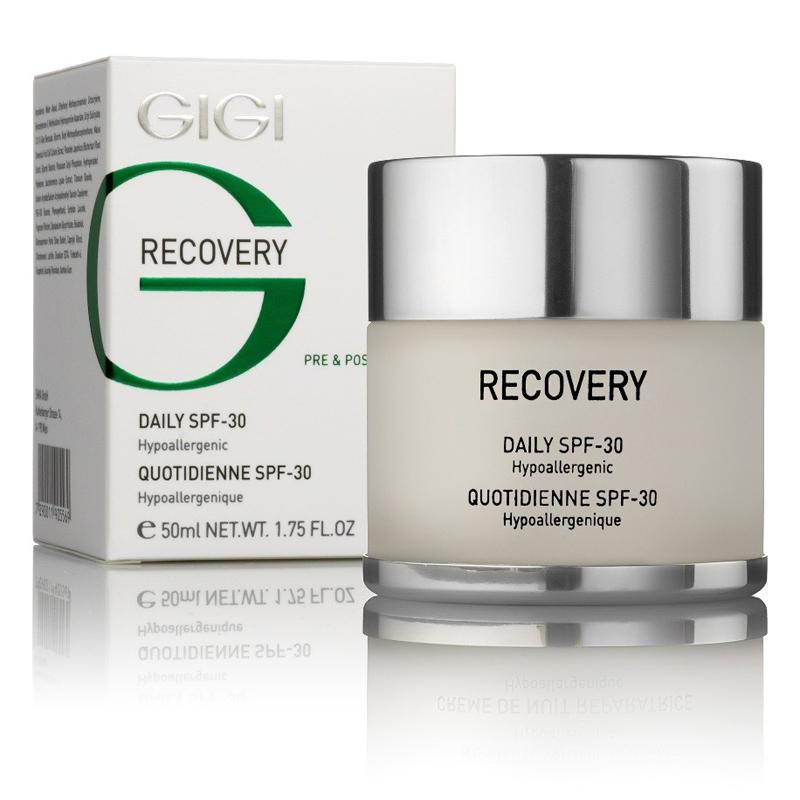 GIGI Крем увлажняющий восстанавливающий SPF30 Recovery, 50 мл167Нежный крем с тающей текстурой полностью нейтрализует UVA и UVB излучения, препятствуя образованию пигментных пятен. Глубоко увлажняет, снимает раздражения, повышаетиммунитет кожи. Стимулирует синтез коллагена, содержит инновационные компоненты, полученных из лекарственных растений. Идеально подходит для ежедневного ухода. Без консервантов. Гипоаллергенный.