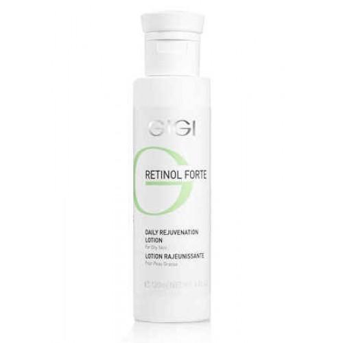 GIGI Лосьон-пилинг для нормальной и сухой кожи Retinol Forte, 120 мл175Представляет собой интенсивный концентрат для ухода за сухой и увядающей кожей лица. Содержит высокий процент активного ретинола. Действие: Стимулирует процессы омоложения кожи, интенсивно увлажняет, улучшает структуру кожи за счет активизации синтеза собственного коллагена и эластина в дерме, активизирует обмен веществ и микроциркуляцию в коже, стимулирует обновление клеток. Активные ингредиенты: молочная кислота, пероксид водорода, фосфорная кислота, ацетанилид, ретинилпальмитат.