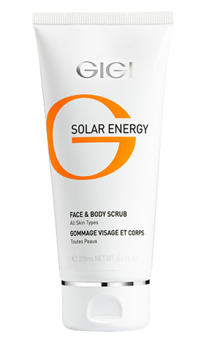 GIGI Скраб минеральный для лица и тела Solar Energy, 200 млFS-54102Мыльный пилинг - скраб для Для всех типов кожи оказывает комплексный эффект: - Поверхностное очищение пышной пеной; - Глубокое очищение и отшелушивание отмерших клеток рогового слоя нежными полиэтиленовыми гранулами; - Минерализация и укрепление кожи благодаря минералам K, Ca, Mg, Na, и солям - бромидам, хлоридам, сульфатам, а также витамину Е и бисабололу; - Шлифовка и стягивание пор, уменьшение сальности кожи. Активные ингредиенты: Лактоза, целлюлоза, оксид железа, витамин Е, бисаболол, минеральная вода, магний, калий, кальций, натрий, бромиды, хлориды, сульфаты, очищающие компоненты.