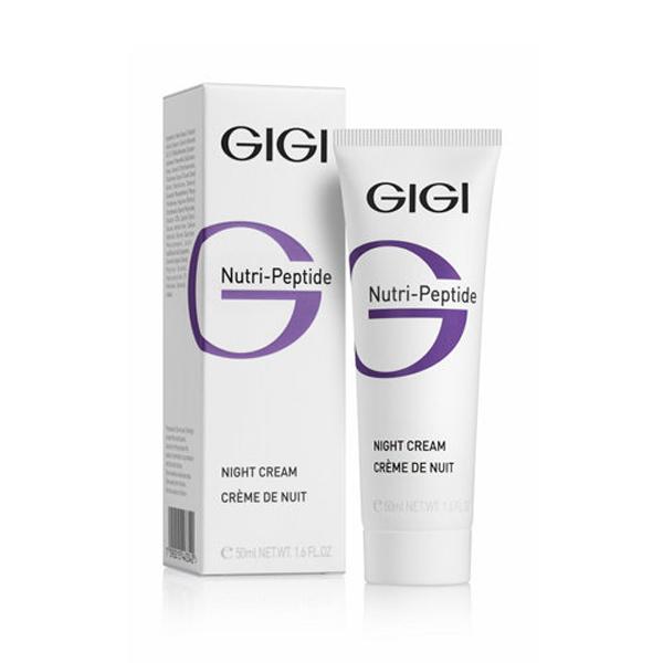 GIGI Пептидный ночной крем Nutri-Peptide Night Cream, 50 мл538785Обогащен активными компонентами, незаменимыми для восстановления ущерба, причиненного коже в течение дня и обеспечивающими оптимальный уровень влажности на следующие сутки. Крем моментально впитывается, насыщает кожу влагой и Для всех типов кожими основными питательными веществами, а также компонентами, необходимыми для эффективной защиты кожи на протяжении Для всех типов кожиго дня. Ускоряет процессы восстановления и заживления в ночное время, активизирует синтез коллагена, возвращает коже свежий и отдохнувший вид. Может применяться самостоятельно либо в комплексе с сывороткой. Активные ингредиенты: X50 PHOTOGLOW, SODIUM HYALURONATE, LARACARE A200.