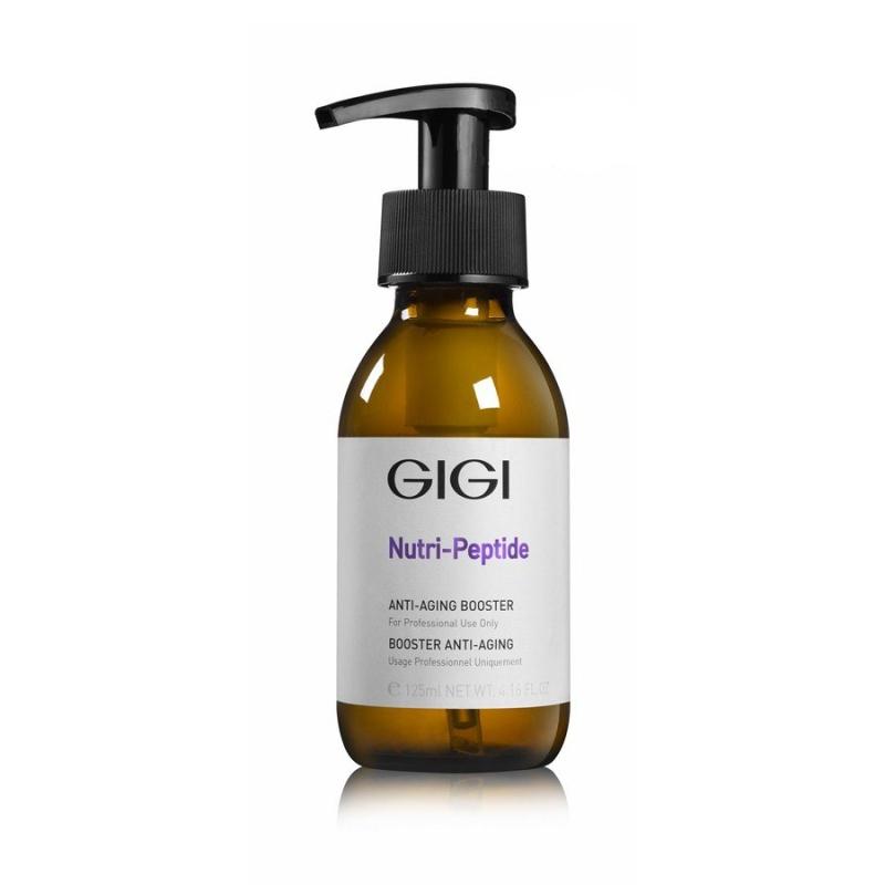 GIGI Концентрат-бустер для антивозрастной терапии Nutri-Peptide Anti-Aging Booster, 125 млFS-00103Предотвращающий старение бустер предназначен для сохранения сияния и свежего вида кожи. В состав препарата входит гиалуроновая кислота с низкой молекулярной массой и пептидный комплекс, трансформирующий свет в энергию. В считанные мгновения увлажняет кожу, стимулирует синтез коллагена и укрепляет овал лица, заметно улучшает текстуру кожи и сглаживает дефекты, предотвращает образование морщин и разглаживает уже существующие, оказывает моментальный и ощутимый эффект сразу после процедуры. Возвращает коже свежесть, сияние и здоровье. Активные ингредиенты: X50, PHOTOGLOW, REDENSIN.