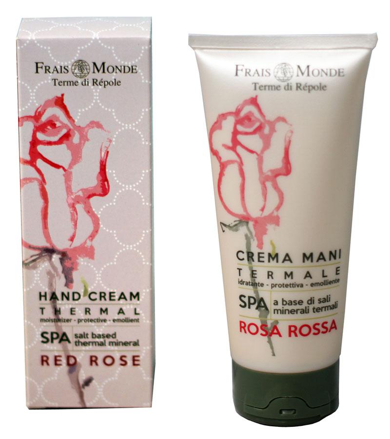 Frais Monde Крем для рук с ароматом красной розы, 100 млFMFCM36Нежный крем с натуральным увлажнением. Содержит растительные компоненты, дополненные маслом сладкого миндаля и масла ши. Эффективно защищает кожу рук от внешних воздействий и трещин; делает ее гладкой, мягкой и идеально увлажненной. Оставляет приятный аромат Красной Розы.