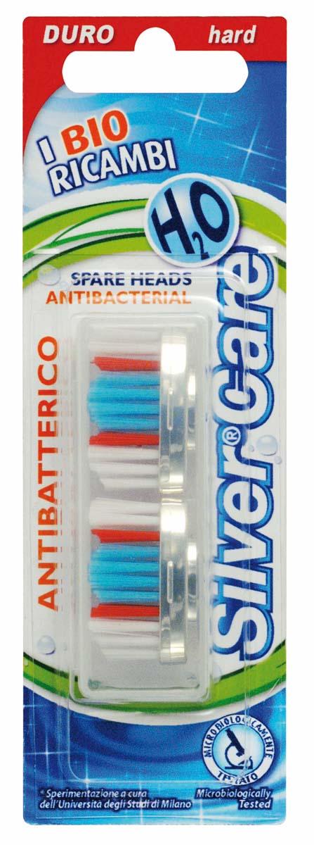 Silver Care Н2О головки сменные (в футляре 2 шт) арт.58FVN52196_синий, фиолетовый, зеленый, розовыйКомплект сменных головок со щетиной жесткой степени благодаря волнообразной подстрижке особенно эффективно борется с бактериальным налетом. Рекомендуется при повышенном образовании зубного камня, в том числе курильщикам, любителям кофе, чая.