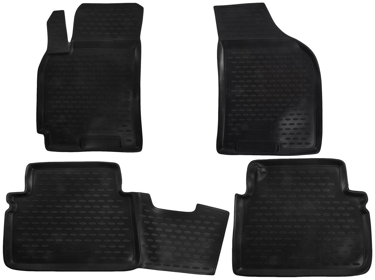 Набор автомобильных ковриков Novline-Autofamily для Chevrolet Lacetti 2004-, в салон, 4 штАксион Т-33Набор автомобильных ковриков Novline-Autofamily, изготовленный из полиуретана, состоит из 4 ковриков, которые учитывают все особенности каждой модели автомобиля и полностью повторяют контуры пола. Полиуретановые автомобильные коврики для салона произведены из высококачественного материала, который держит форму, прочный и не пачкает обувь. Коврики в салон не только улучшат внешний вид салона вашего автомобиля, но и надежно уберегут его от пыли, грязи и сырости, а значит, защитят кузов от коррозии. Полиуретановые коврики для автомобиля гладкие, приятные и не пропускают влагу. Ковры для автомобилей надежно крепятся на полу и не скользят, что очень важно во время движения. Чистятся коврики очень просто: как при помощи автомобильного пылесоса, так и различными моющими средствами. Набор подходит для Chevrolet Lacetti с 2004 года выпуска.