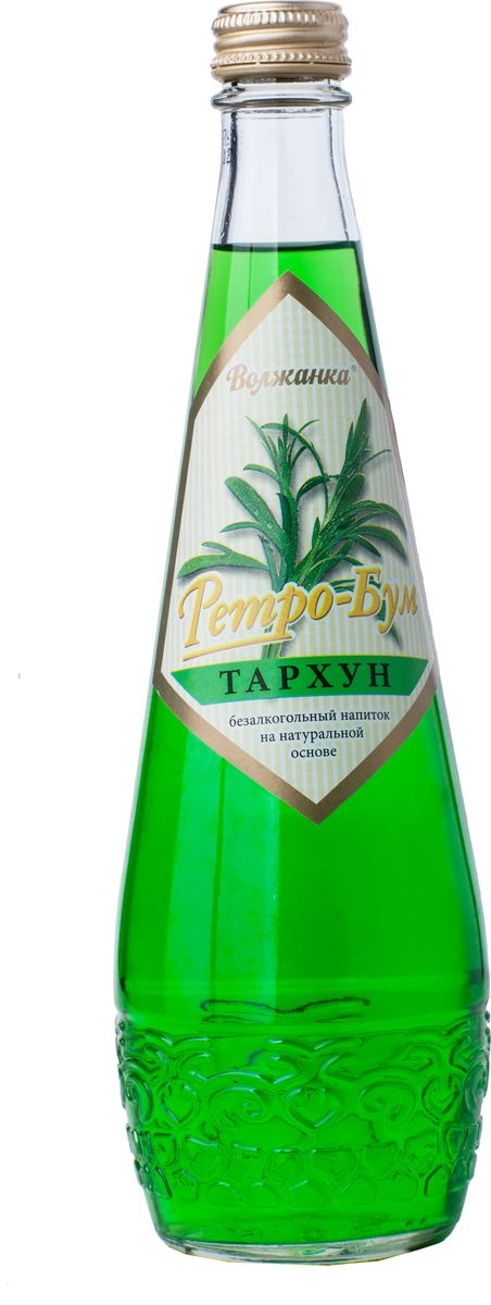 Ретро Бум Тархун лимонад, 0,5 л0120710Безалкогольный напиток Тархун - низкокалорийный, среднегазированный. Этот напиток не теряет своей популярности и сегодня, благодаря нежному вкусу и аромату тархуна.