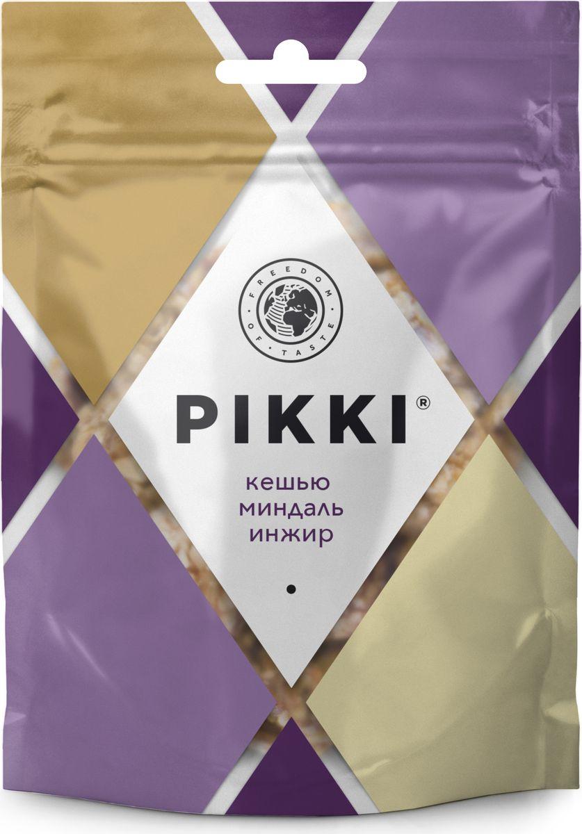 Pikki Кешью-Миндаль-Инжир конфеты орехово-фруктовые, 50 г pikki мюсли кокос кешью шоколад батончик орехово фруктовый 50 г