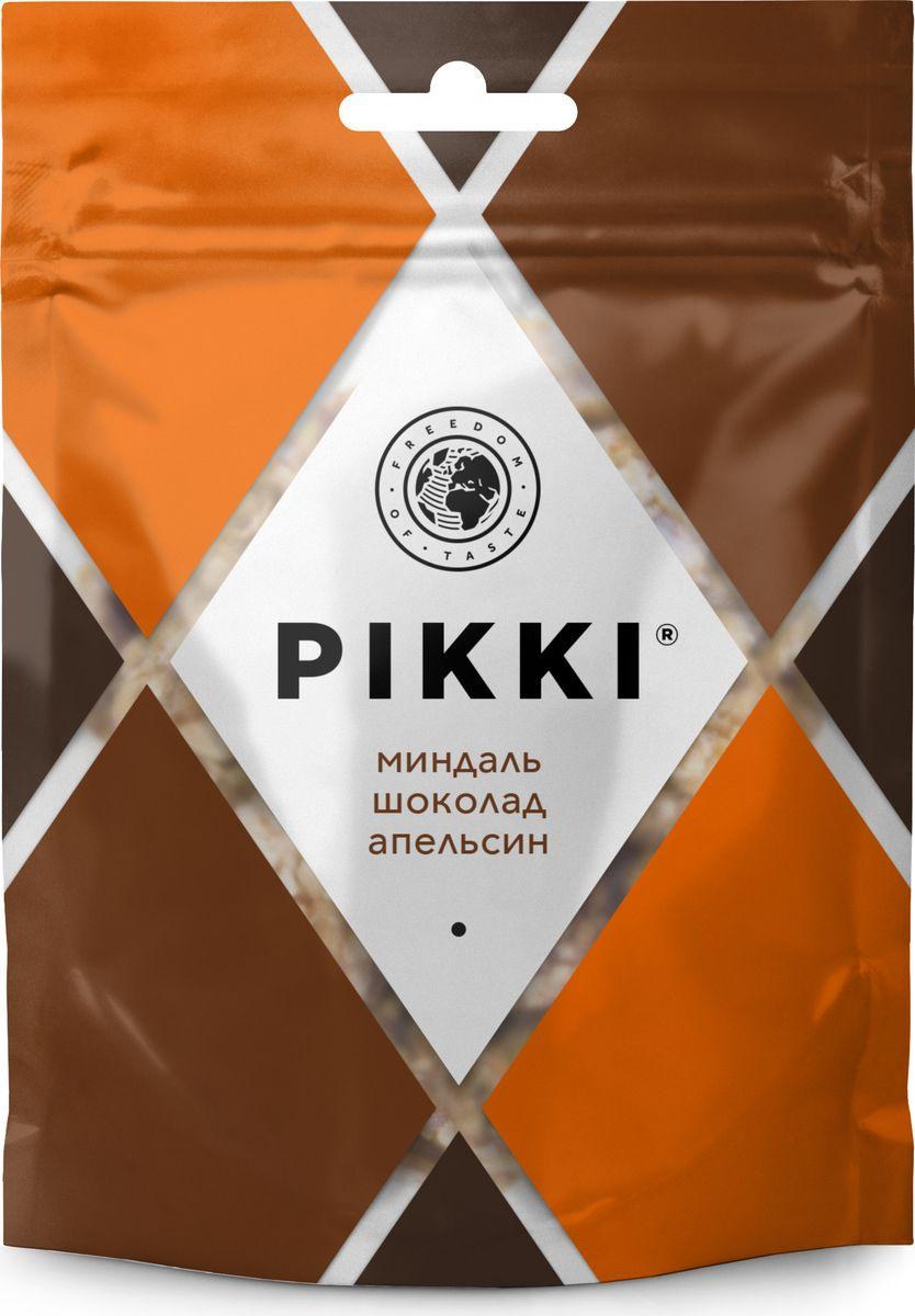 Pikki Миндаль-Шоколад-Апельсин конфеты орехово-фруктовые, 50 гУТ040810415Полезные снеки из орехов, злаков и сухофруктов для быстрого перекуса.