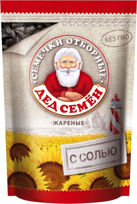 Дед Семен семечки отборные соленые, 250 г0120710Семечки отборные подсолнечника жареные соленые.