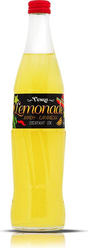 Vesko Лимон-Карамбола лимонад, 0,5 л0120710Освежающий безалкогольный газированный напиток со вкусом лимона и карамболы с приятным цитрусовым ароматом. Хранить в сухих, чистых помещениях при относительной влажности воздуха не более 75%. При температуре от 0`С до +20`С. Открытую бутылку хранить в холодильнике, напиток употребить в течение 6 часов. Избегать воздействия прямого солнечного света и других источников тепла. Пейте охлажденным! Допускается осадок, обусловленный особенностями используемого сырья.