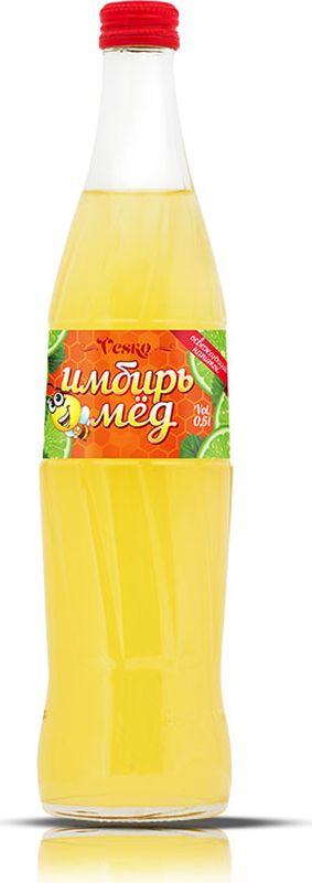 Vesko Имбирь-Мед лимонад, 0,5 л0120710Освежающий безалкогольный газированный напиток со вкусом имбиря и меда и приятным медовым ароматом. Содержит только натуральные красители и ароматизаторы. Пейте охлажденным! Допускается осадок, обусловленный особенностями используемого сырья.
