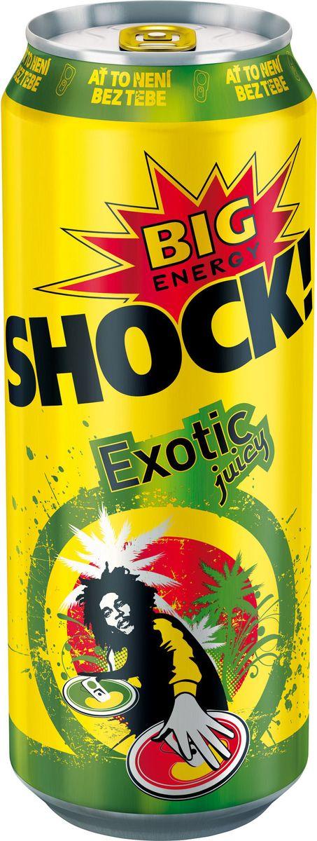 Bigshock! Exotic энергетический напиток, 0,5 лУТ040810366Bigshock! - энергия со вкусом. Освежающий ароматный напиток, содержащий натуральный кофеин, таурин, витамины и 10% фруктового сока. Умеренная газация. Долгое послевкусие. Неподражаемый вкус. Взбудораживающий эффект. Снимает усталость и освежает внимание. Подходит для увеличения физической активности. Употреблять охлажденным!
