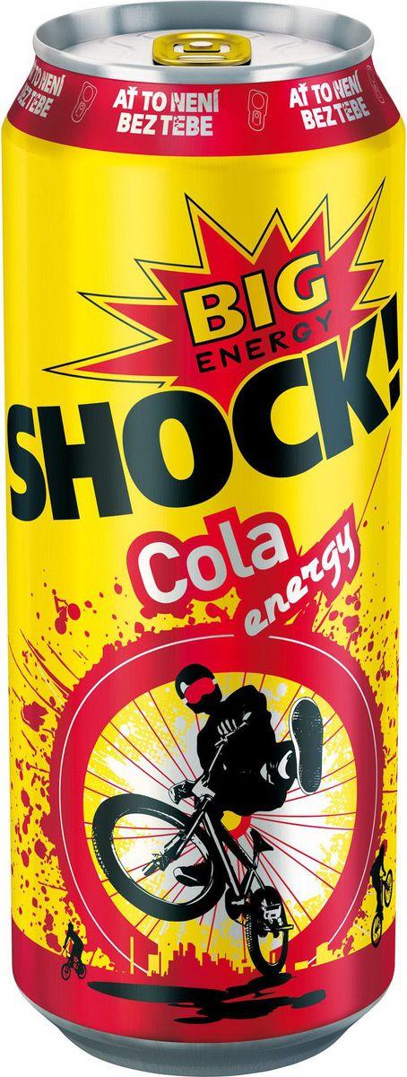 Bigshock! Cola энергетический напиток, 0,5 л0120710Bigshock! - энергия со вкусом. Освежающий ароматный напиток, содержащий натуральный кофеин, таурин и витамины. Умеренная газация. Долгое послевкусие. Неподражаемый вкус. Взбудораживающий эффект. Снимает усталость и освежает внимание. Подходит для увеличения физической активности. Употреблять охлажденным!