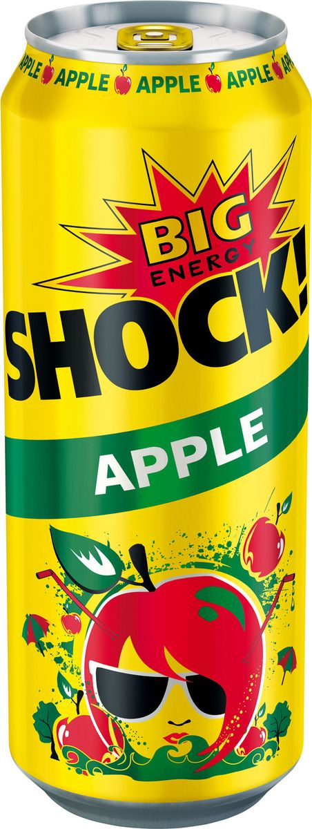 Bigshock! Apple энергетический напиток, 0,5 л0120710Bigshock! - энергия со вкусом. Освежающий ароматный напиток, содержащий натуральный кофеин, таурин, витамины и 10% фруктового сока. Умеренная газация. Долгое послевкусие. Неподражаемый вкус. Взбудораживающий эффект. Снимает усталость и освежает внимание. Подходит для увеличения физической активности. Употреблять охлажденным!