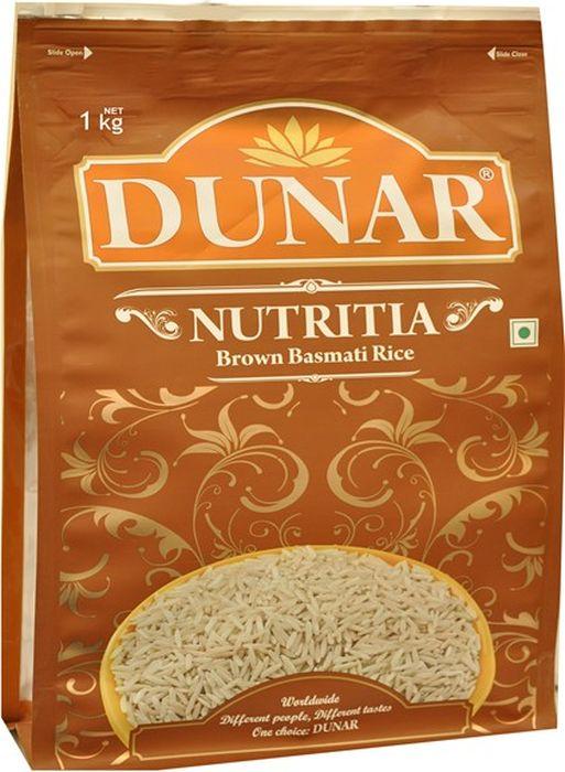 Dunar Nutritia коричневый басмати рис, 1 кг0120710Бурый нешлифованный рис признан оздоровительным рисом, выдержка риса 2 года, длина зерна в приготовленном виде 15 мм.