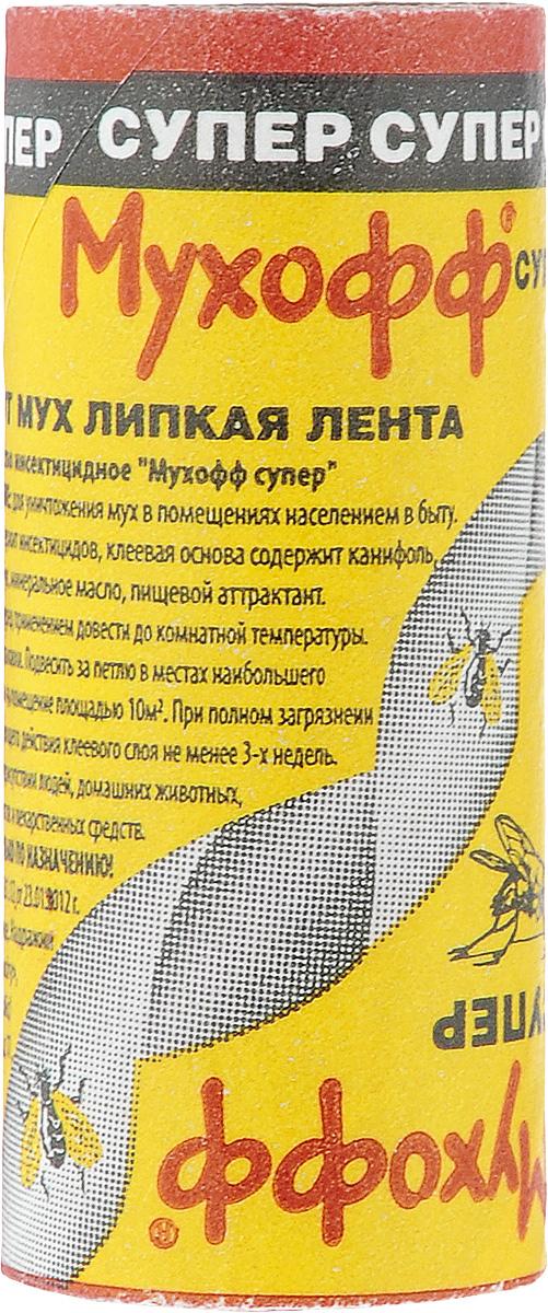 Липкая лента от мух Мухофф Супер106-026Липкая лента от мух Мухофф Супер предназначена для уничтожения мух в помещениях. Расход: 2-3 ленты на 10 м2.