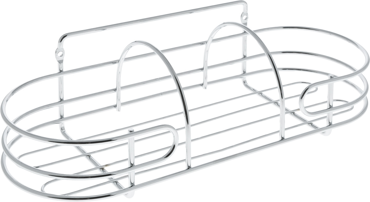 Корзина навесная для ванной Swensa, 32 х 12,5 х 11,8 см391602Корзина навесная для ванной Swensa выполнена из высококачественной стали с хромированным покрытием. Имеет закругленную форму. Для установки предусмотрены специальные отверстия. Изделие отлично подойдет для хранения шампуня, геля для душа и многого другого. Корзина дополнит любой интерьер ванной комнаты, она отличается высоким качеством и лаконичным внешним видом.