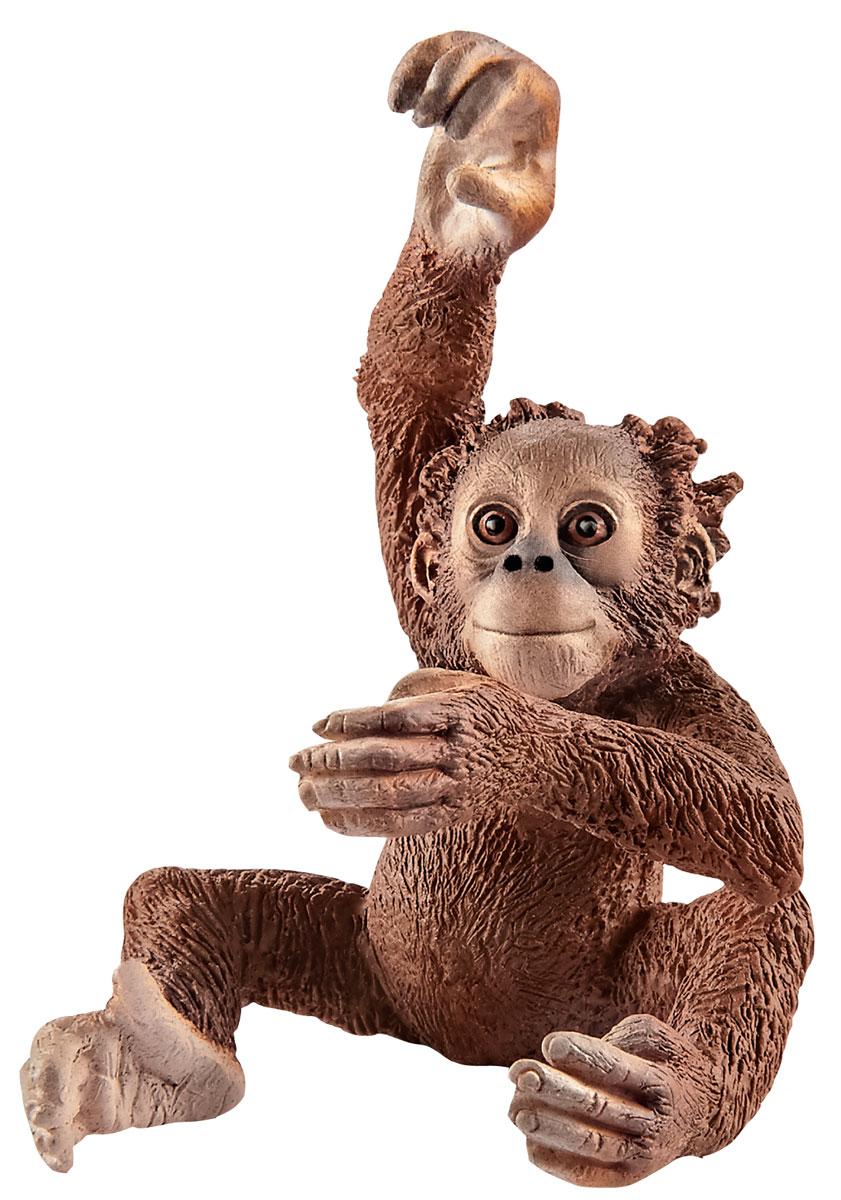 Schleich Фигурка Орангутан детеныш фигурки игрушки schleich панда детеныш играет