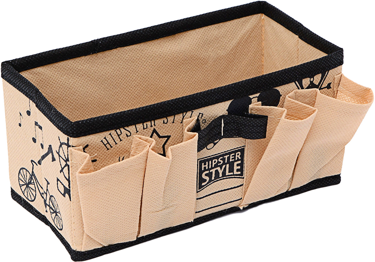 Органайзер Homsu Hipster Style, для украшений и мелочей, 20 х 10 х 10 смRG-D31SУниверсальная коробочка для хранения канцелярии, бижутерии, косметики. 200х100х100