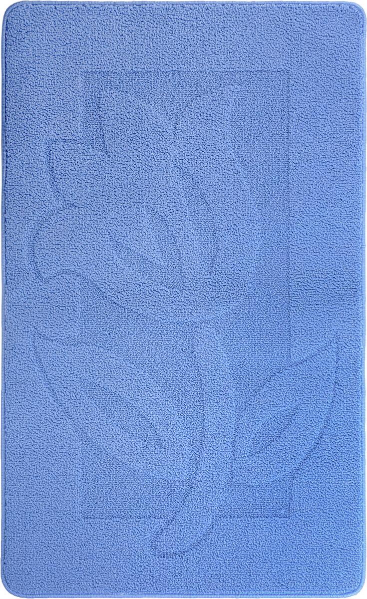 Коврик для ванной Kamalak Tekstil, цвет: синий, 60 x 100 смRG-D31SКовер Kamalak Tekstil изготовлен из прочного синтетического материала heat-set, улучшенного варианта полипропилена (эта нить получается в результате его дополнительной обработки). Полипропилен износостоек, нетоксичен, не впитывает влагу, не провоцирует аллергию. Структура волокна в полипропиленовых коврах гладкая, поэтому грязь не будет въедаться и скапливаться на ворсе. Практичный и износоустойчивый ворс не истирается и не накапливает статическое электричество. Ковер обладает хорошими показателями теплостойкости и шумоизоляции. Оригинальный рисунок позволит гармонично оформить интерьер ванной комнаты. За счет невысокого ворса ковер легко чистить. При надлежащем уходе синтетический ковер прослужит долго, не утратив ни яркости узора, ни блеска ворса, ни упругости. Самый простой способ избавить изделие от грязи - пропылесосить его с обеих сторон (лицевой и изнаночной). Влажная уборка с применением шампуней и моющих средств не противопоказана. Хранить рекомендуется в свернутом рулоном виде.