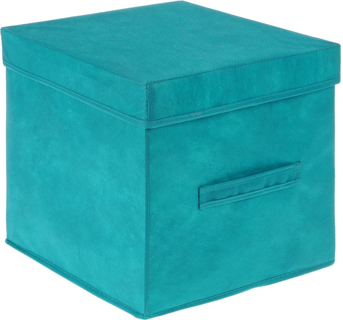 Коробка для вещей Все на местах Париж, с крышкой, цвет: бирюзовый, 30 х 30 х 30 см1004900000360Коробка с крышкой Все на местах выполнена из высококачественного нетканого материала, который обеспечивает естественную вентиляцию и предназначен для хранения вещей или игрушек. Он защитит вещи от повреждений, пыли, влаги и загрязнений во время хранения и транспортировки. Размер коробки: 30 х 30 х 30 см.