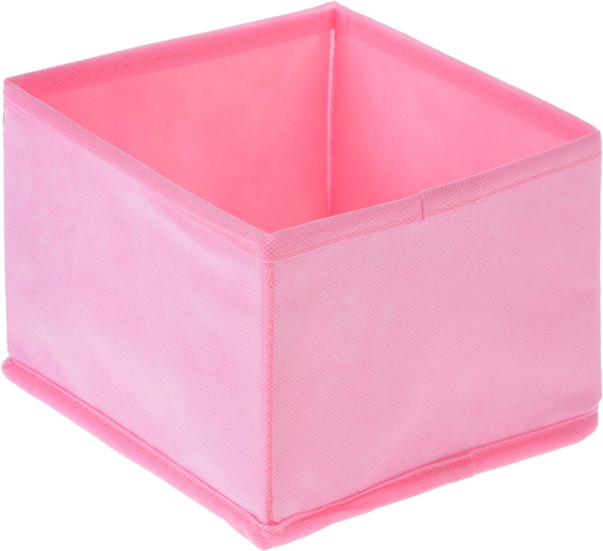 Органайзер Все на местах Minimalistic, цвет: розовый, 15 х 15 х 11 см1011045.Органайзер Все на местах Minimalistic поможет удобно хранить вещи. Изделие выполнено из высококачественного нетканого материала, который обеспечивает естественную вентиляцию, позволяя воздуху проникать внутрь, но не пропускает пыль. Вставки из ПВХ хорошо держат форму. Изделие содержит одну большую секцию. Органайзер легко раскладывается и складывается. Оригинальный дизайн придется по вкусу ценителям эстетичного хранения. Размер органайзера в разложенном виде: 15 х 15 х 11 см.