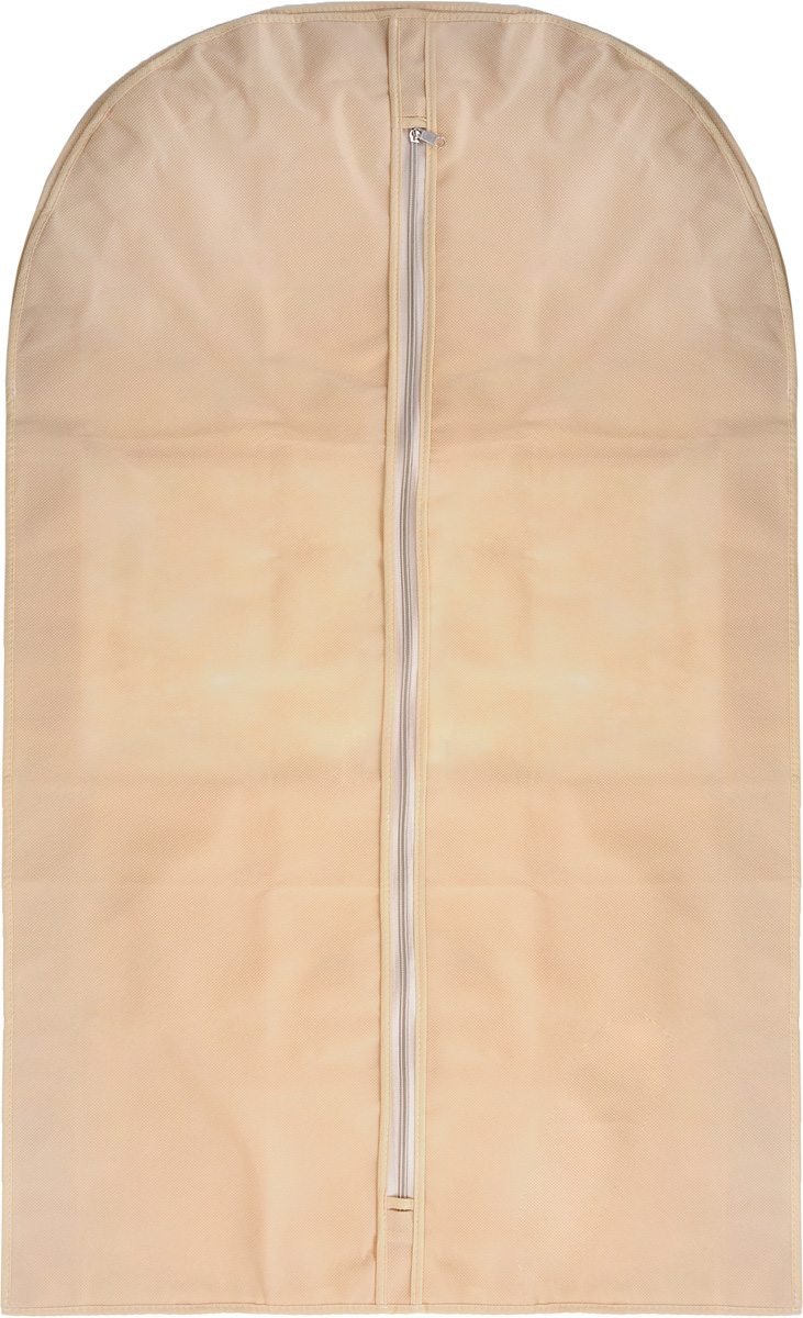 Чехол для костюма Все на местах Minimalistic, цвет: бежевый, 100 х 60 х 10 см. 1011008.CLP446Чехол для костюма Все на местах Minimalistic изготовлен из сочетания спанбонда и ПВХ. Прозрачное окошко значительно облегчает поиск необходимой вещи в гардеробе, а элегантный классический дизайн подойдет к любому гардеробу. Этот чехол для костюма позволит аккуратно переносить любимые вещи, не помяв их и не испачкав во время путешествия.В верхней части чехла есть отверстие для вешалки. Застегивается чехол на прочную молнию.Материал: спанбонд, ПВХ.Размеры: 100 х 60 х 10 см.