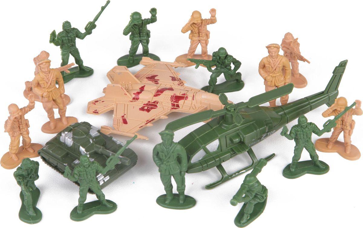 Yako Набор соладтиков Армия M6080 игровой набор солдатиков 18 штук коричневый